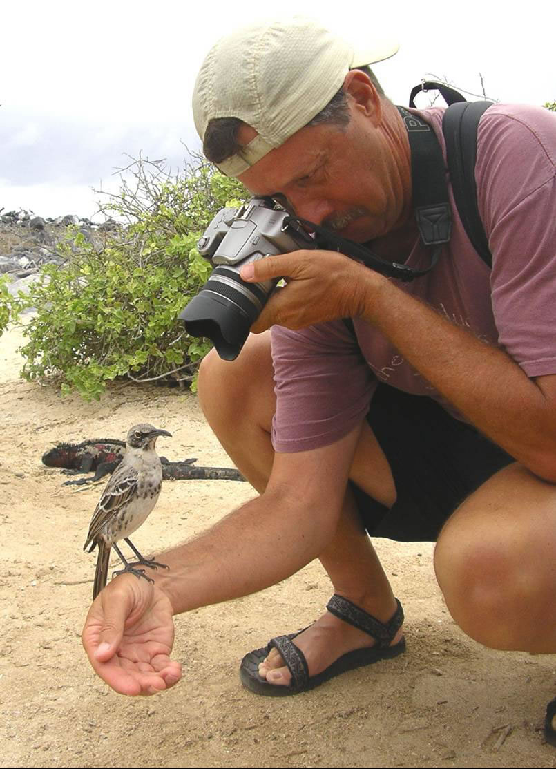 Gaston Taking Picture of a Ecuador Bird
